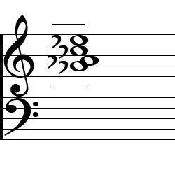 Ab minor 7, A flat minor 7 Third Inversion Piano Chord