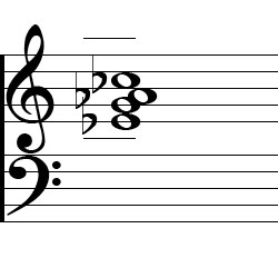 Ab minor (Major 7), A flat minor (Major 7) Second Inversion Piano Chord