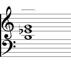 E♭ Augmented Second Inversion Piano Chord